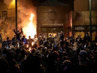 George Floyd police station fire