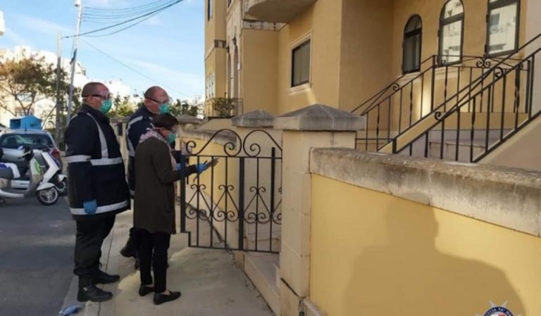 Police spot checks quarantine homes