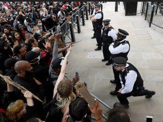 British Police George Floyd protesters