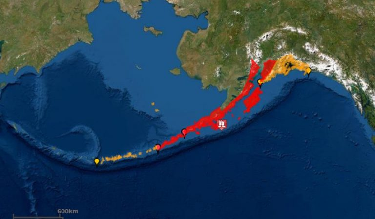 Alaska earthquake Tsunami strikes