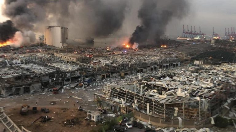 Beirut explosion aftermath