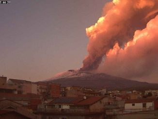 Mount Etna in Italy erupted red-hot lava