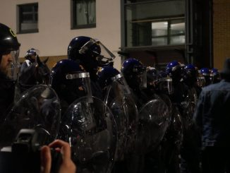 bristol protest stopped by riot police
