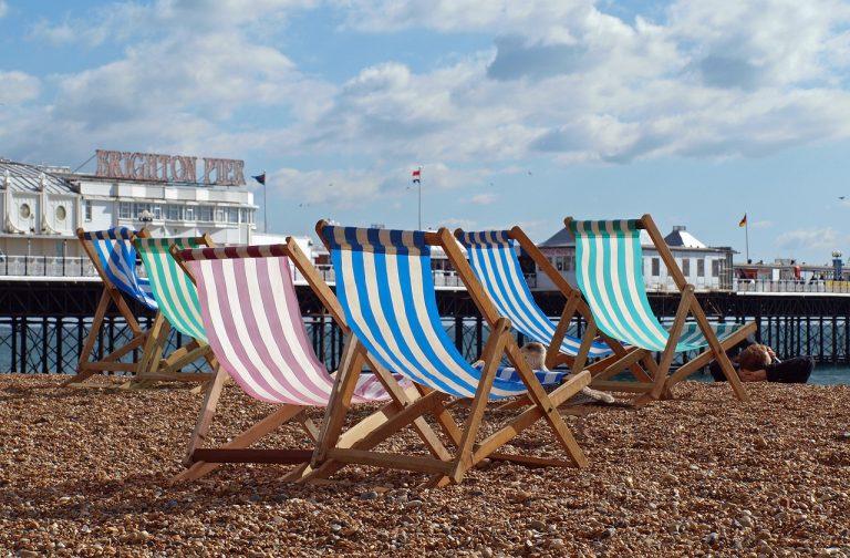 Families travel seaside