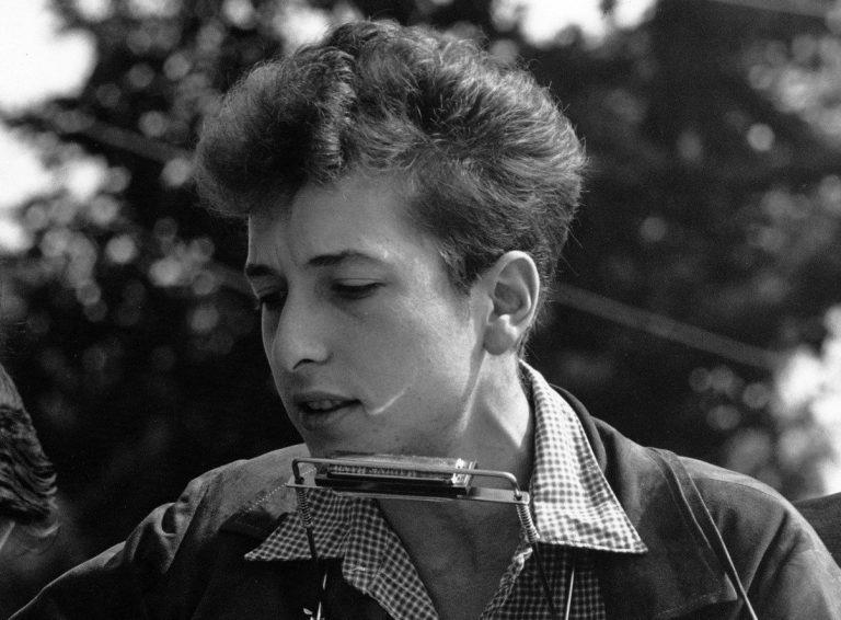 American folk singer Bob Dylan