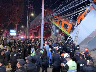 Collapse of the skytrain bridge in Mexico