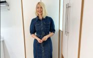 Holly Willoughby shows how to style a denim dress