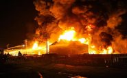 Iranian oil refinery and Iran's Kharg catch on fire