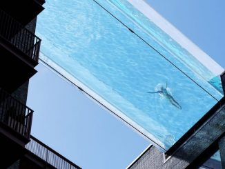 Sky Pool, the world's first suspended pool opens in London