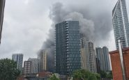 London:  A spectacular fire breaks out near an underground station